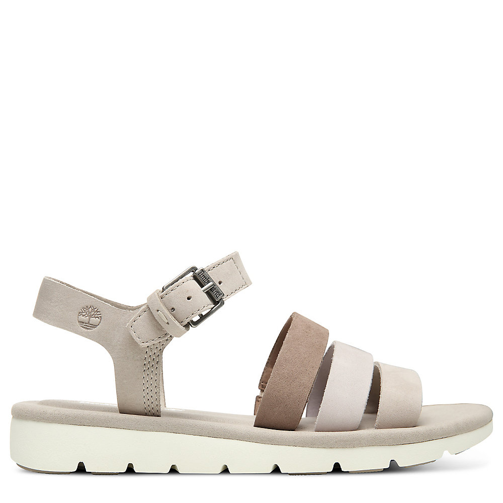 Timberland Lottie Lou Multi-strap Bayan Sandalet Taupe - TR2391NPZ