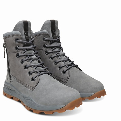 Timberland Brooklyn Side Zip Erkek Bot Gri - TR8369CUQ